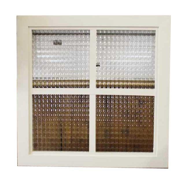 北欧 桟入りガラス窓 フローラガラスのガラスフレーム (35×50cm) 1134626 オーダーメイド アンティークブラウン