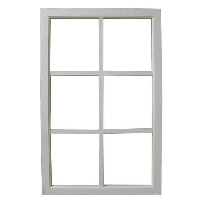 室内窓 透明ガラス アンティークホワイト 片面桟入り 57×90cm・厚み3.5cm フィックス窓 飾り窓 FIX窓 木製 ひのき オーダーメイド 1327933