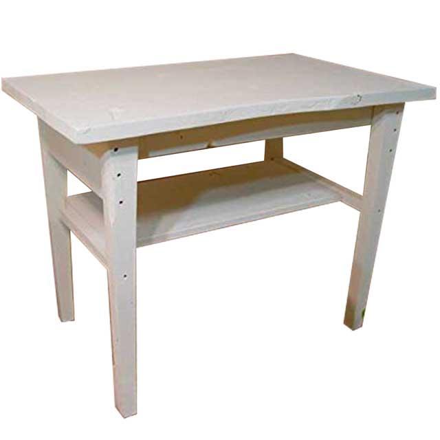 カウンターテーブル 自然木 アンティーホワイト w92d55h72cm 自然そのままの形 木製 ひのき オーダーメイド