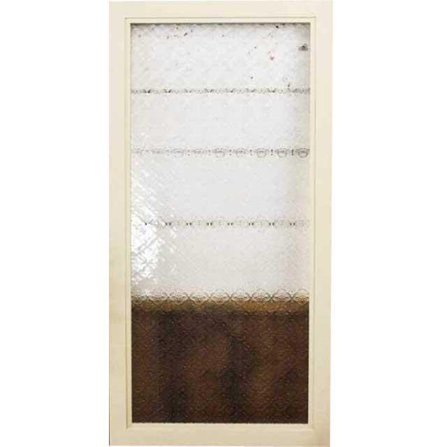 ガラスフレーム 木製 ひのき フローラガラスフレーム 40×2×80cm 片面仕様 北欧 アンティークホワイト オーダーメイド 1327933