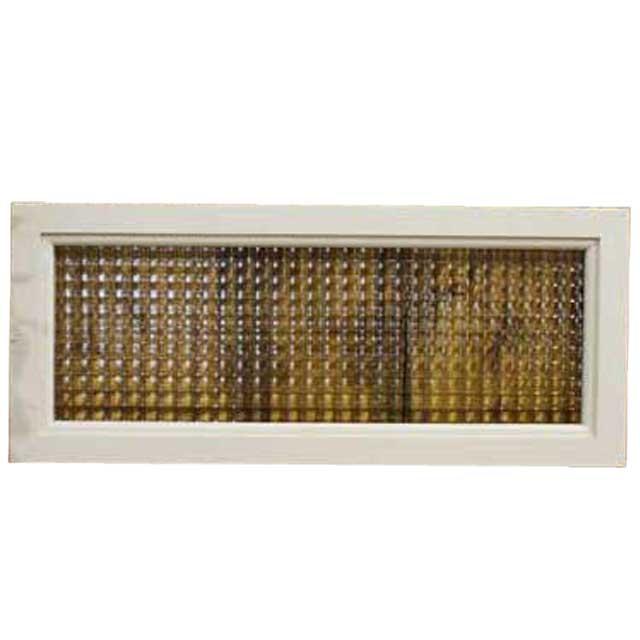 ガラスフレーム 木製 ひのき チェッカーガラス(50×20cm)北欧(アンティークホワイト) オーダーメイド 1327933