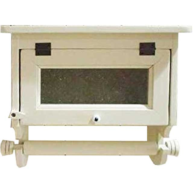 キッチンペーパーホルダー フローラガラス扉 w31d17h29cm アンティークホワイト 国内サイズ(230mm)壁かけスパイスラック 木製 ひのき オーダーメイド