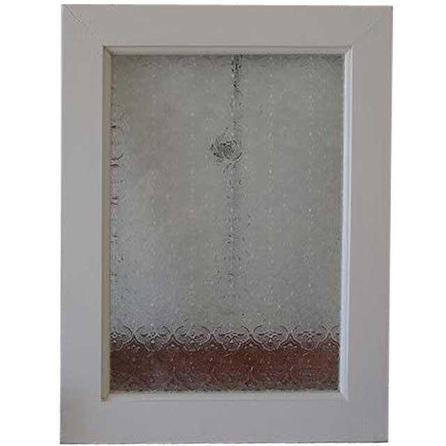 アンティークホワイト フローラガラスのガラスフレーム(30×40cm) 北欧 オーダーメイド 1327933