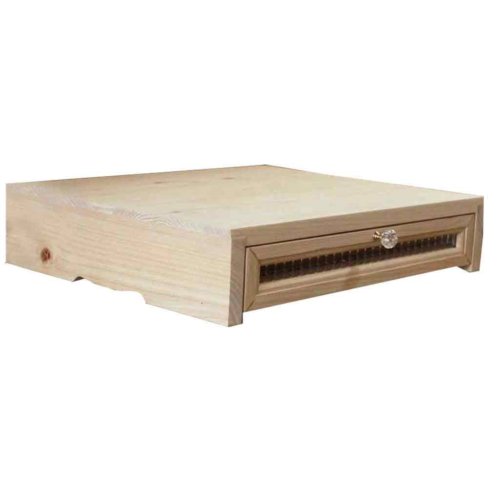 Printer Rack Wooden Hinoki Light Oak Checker Glass Drawer Storing Box  Printer Stand FAX Stand 48*40*10cm Custom Tailoring