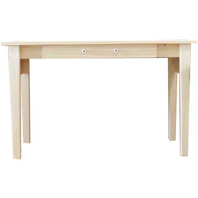 ロングテーブル 木製 ひのき 引き出し付き テーブル 作業台 縫製机 裁断机 ライトオーク 受注製作
