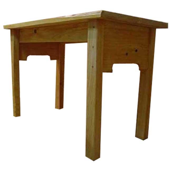 テーブル 自然木 ライトオーク w95d49h63cm 自然の形そのまま 木製 ひのき オーダーメイド