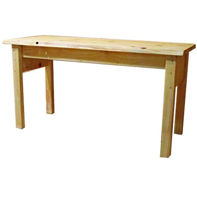 テーブル 木製 ひのき ライトオーク 自然木そのまま ロングテーブル 120×49×63cm コンソールテーブル オーダーメイド
