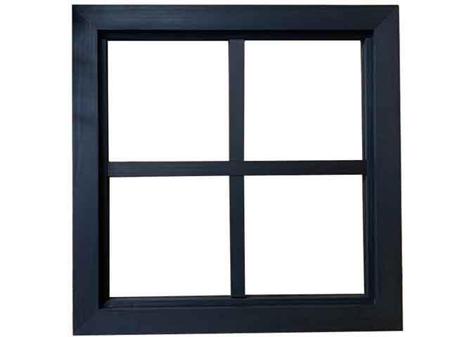 FIX窓・室内窓 透明ガラス 両面桟入り 45x3.5x45cm ブラックステイン 木製 ひのき ハンドメイド オーダーメイド 1327933