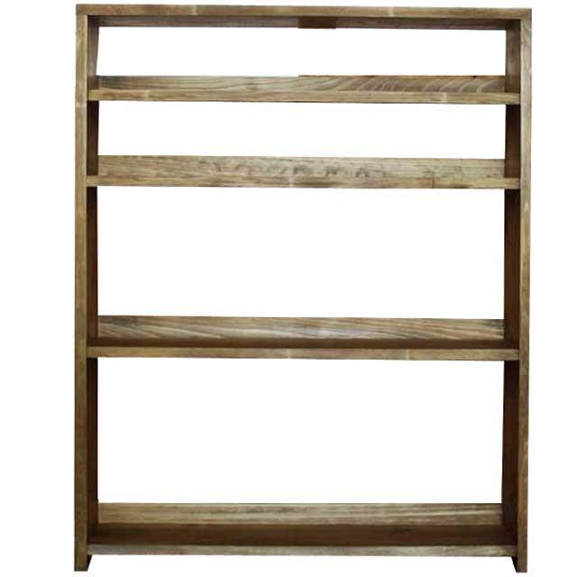 本棚 ウッドラック アンティークブラウン w80d23h100cm ブックシェルフ 飾り棚 ディスプレイラック 木製 ひのき オーダーメイド