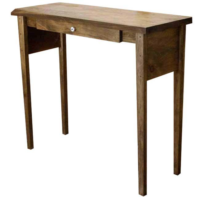 カウンターテーブル 下棚なし アンティークブラウン w102d40h90cm 引き出し付き 木製 ひのき オーダーメイド