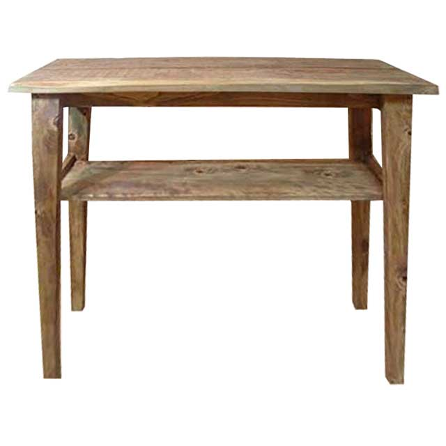 カウンターテーブル 自然木 アンティークブラウン w102d40h90cm 自然の形そのまま 木製 ひのき オーダーメイド