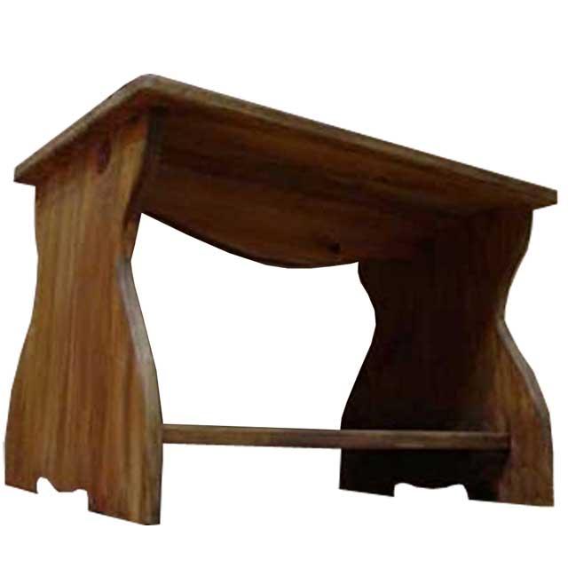 テーブル 木製 ひのき アンティークブラウン ミニテーブル ちゃぶ台 54×38×37cm 棚つき 受注製作