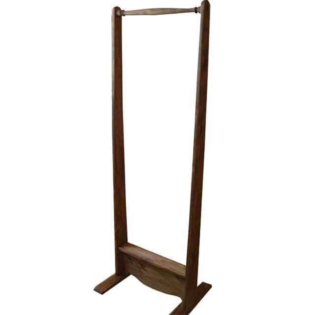 ハンガーラック アンティークブラウン w50d40h135cm シンプル 木製 ひのき オーダーメイド