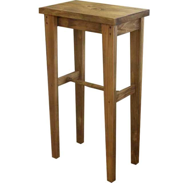 スツール 角型椅子 アンティークブラウン w50d30h90cm 木製 ひのき オーダーメイド