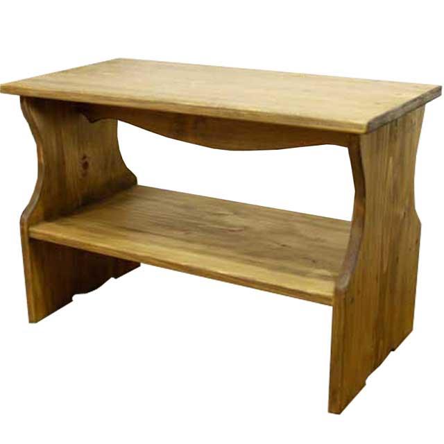 ベンチシェルフ 棚付き アンティークブラウン w60d30h40cm 木製 ひのき オーダーメイド 1327933