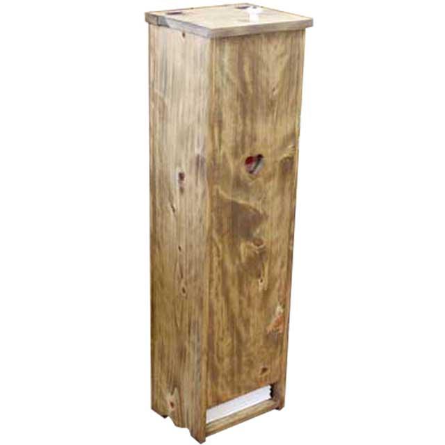 ペットシートストッカー おむつストッカー 木製 ひのき カントリーハート(赤)おむつ収納(アンティークブラウン)受注製作