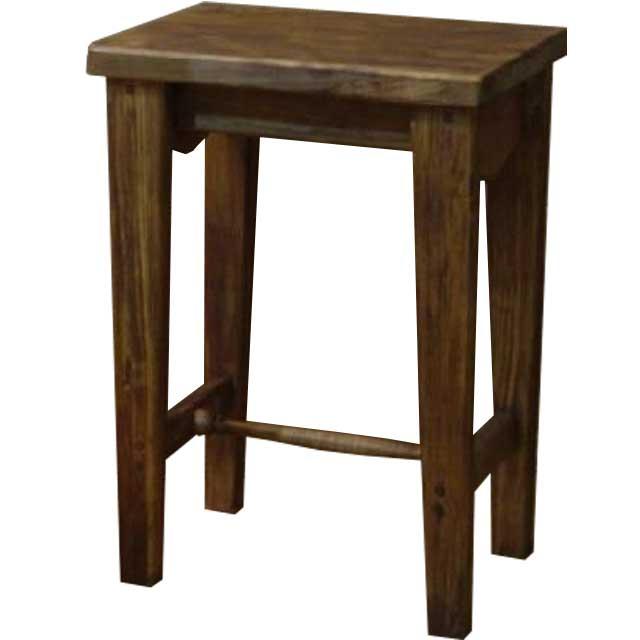 スツール 角型 アンティークブラウン w36d25h50cm 椅子 木製 ひのき オーダーメイド