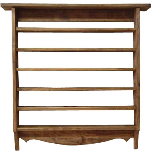木製コレクションシェルフ 奥行き広め(53×10×53cm)アンティークブラウン 木製 ひのき オーダーメイド