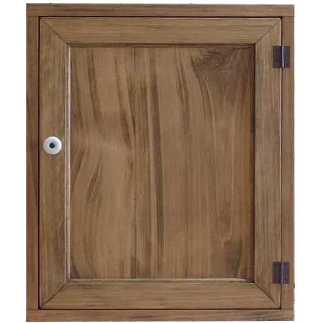 アンティークブラウン 木製扉のトイレットペーパーキャビネット(ニッチ用埋め込みタイプ) 受注製作