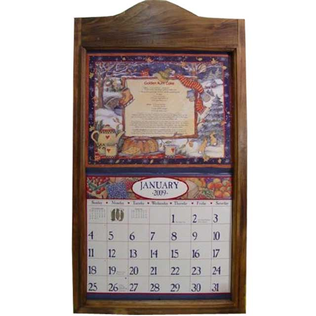 Angels Dust: Calendar Frame Antique Brown W38.5d2.5h73cm Wooden