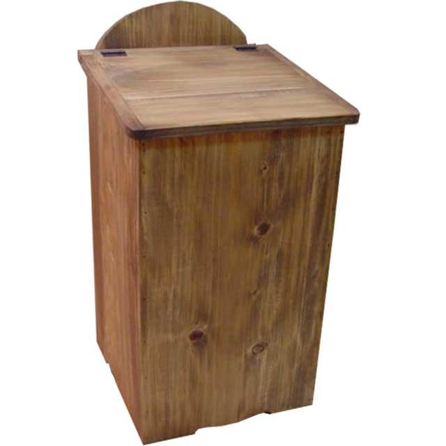 ダストボックス アンティークブラウン w27d28h53cm ふた付き ひのき 木製 オーダーメイド