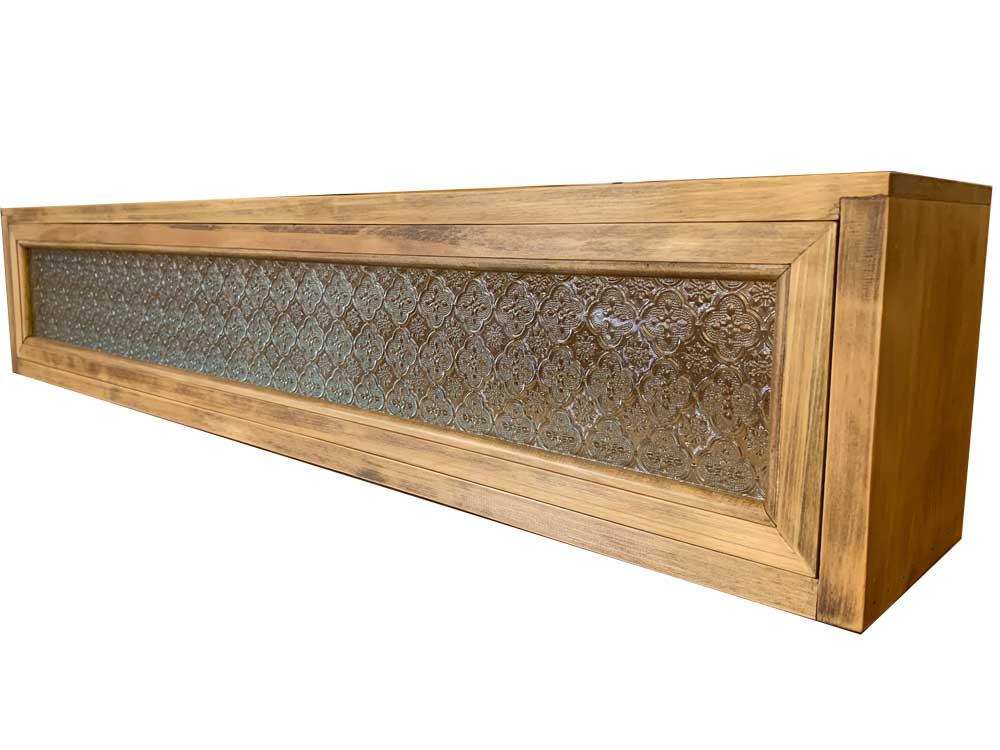 横型キャビネット w100d17h20cm FIX 木製 ひのき ハンドメイド オーダーメイド