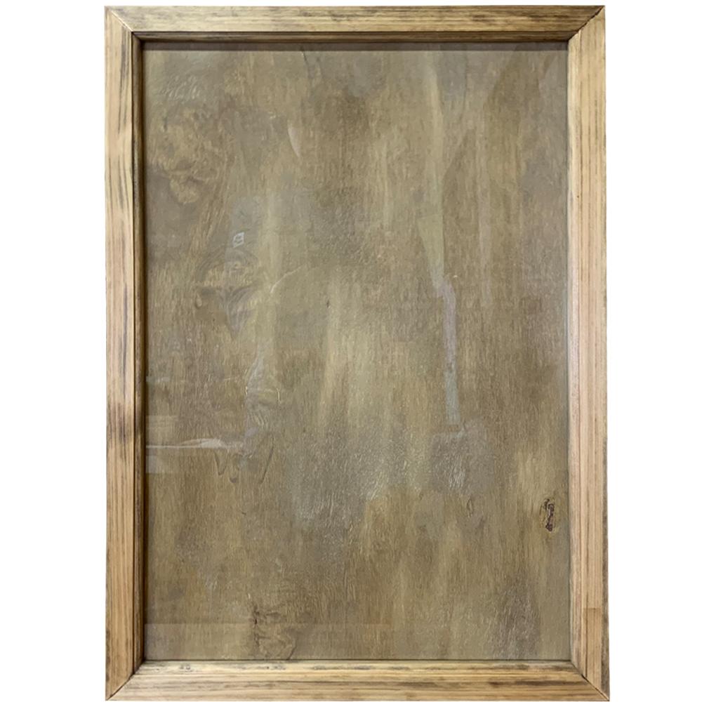 フォトフレーム 縦横兼用 壁掛け アンティークブラウン 40.5×2×58.5cm 木製 ひのき ハンドメイド オーダーメイド