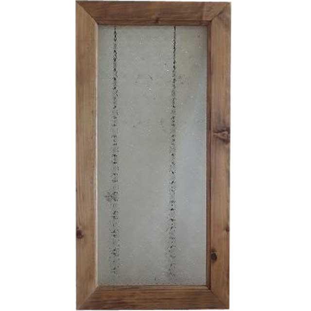 アンティークブラウン フローラガラスのガラスフレーム ガラス窓(30×60cm) 北欧 オーダーメイド 1327933