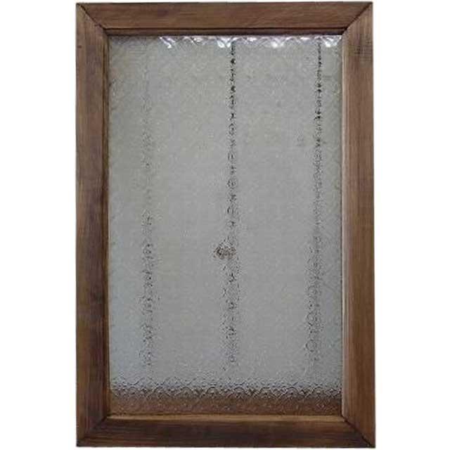 アンティークブラウン フローラガラスのガラスフレーム ガラス窓(40×60cm) 北欧 オーダーメイド 1327933