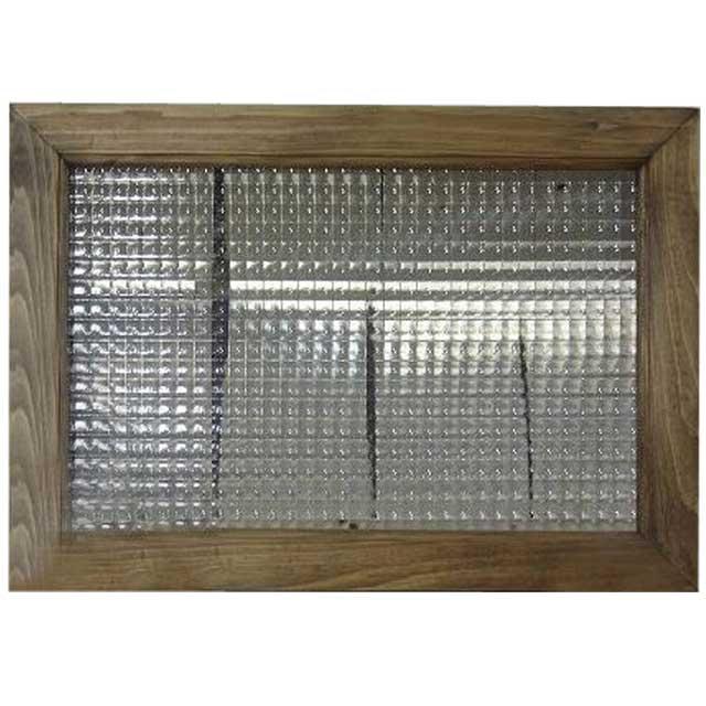 ガラスフレーム アンティークブラウン チェッカーガラス(50×35cm) 北欧 オーダーメイド 1327933