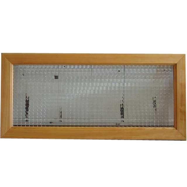 ナチュラル チェッカーガラスのガラスフレーム ガラス窓(30×65cm) 北欧 オーダーメイド 1327933