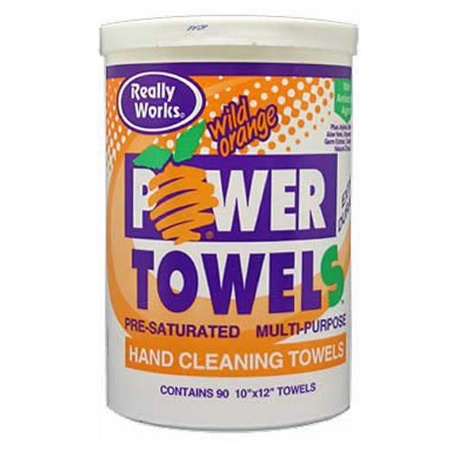 Orange power 90 towels