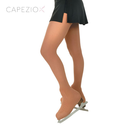 capezio1812&1812cフィギュアスケートタイツ:カペジオ大会用フック無しオーバーシューズタイツ(ブーツカバー・靴カバー・足先カバー)子供・大人・ジュニアカラー:ヌード・サンタン(nude&sutan)