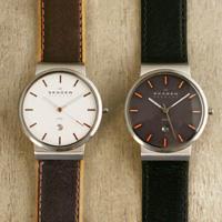 Leather belt watch SKAGEN (Skagen men's) 351 XLSL