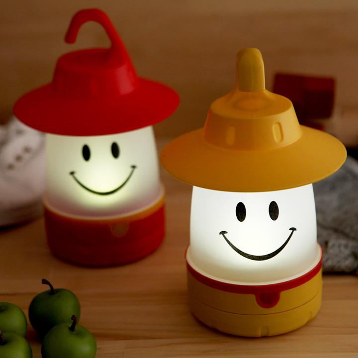 値下げ SPICE LED照明 アウトドア ピクニック スマイルLEDランタン 子供部屋 メーカー公式ショップ