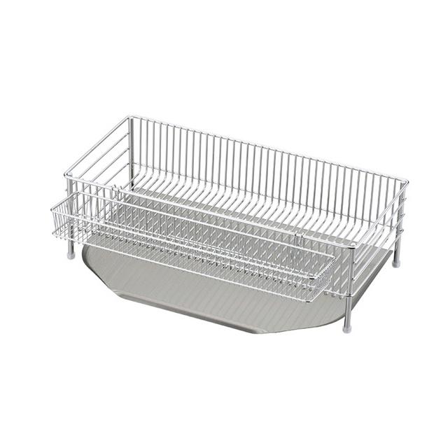 La base ( reverse ) Dish drainer basket slim 3-piece set