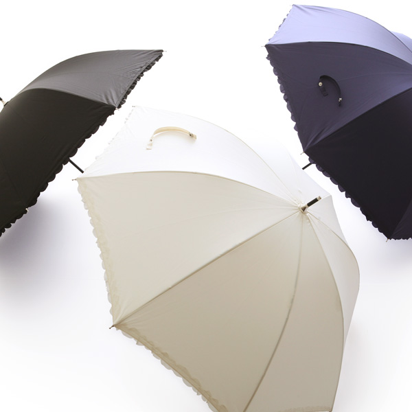 Heat cut frill parasol fair or rainy weather combined use