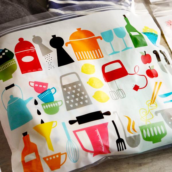 キュートなジッパーバッグ!おしゃれに使える、ジッパー付き保存袋のおすすめは?