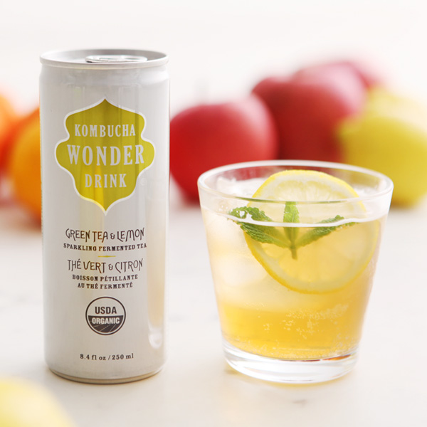 Healthy KOMBUCHA WONDER DRINK fermented beverage Kombucha