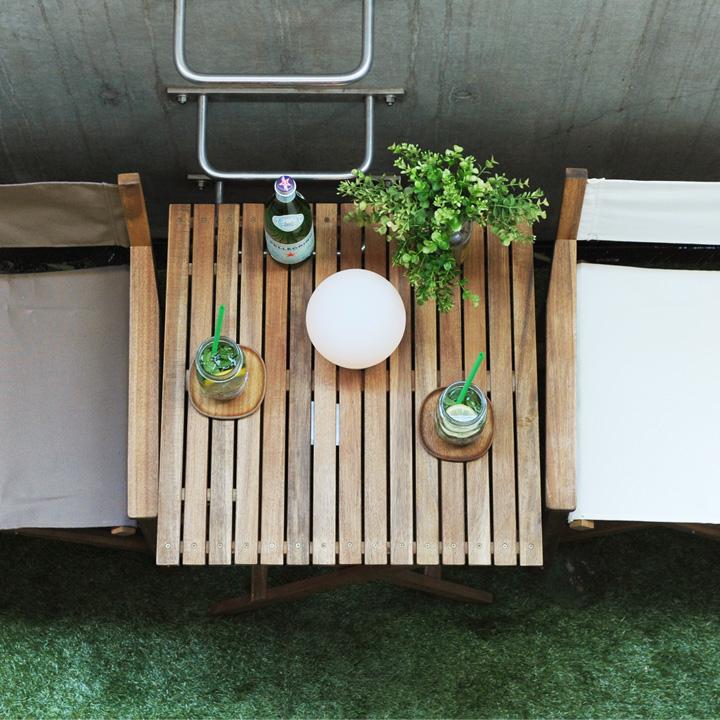 Byron 折りたたみテーブル 60×60cm 【折りたたみ アウトドアテーブル ガーデンテーブル ウッドテーブル ベランダ アウトドア キャンプ アカシア 天然木 机 テーブル】【送料無料】