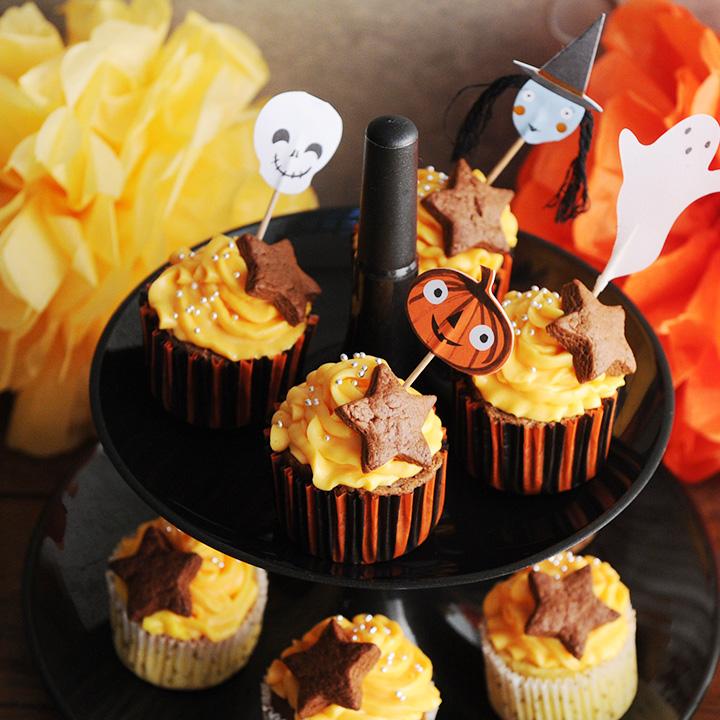 メリメリ パーティ ハロウィン 与え 製菓用品 merimeri 大幅値下げランキング カップケーキキット HALLOWEEN ケーキ型