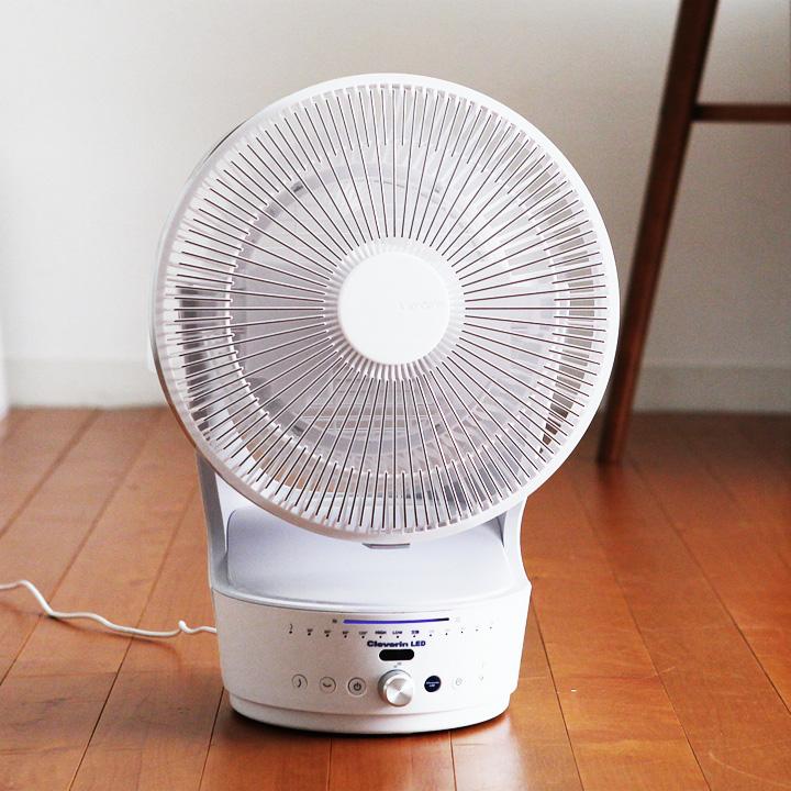 扇風機 kamomefan クレベリンLED搭載 サーキュレーター/おしゃれ 扇風機 dc dcモーター 省エネ ドウシシャ
