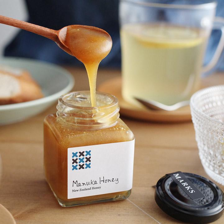 ハチミツ マヌカハニー 花粉症 日本メーカー新品 風邪対策 新品未使用 ギフト 110g ミニサイズ MARKS HONEY