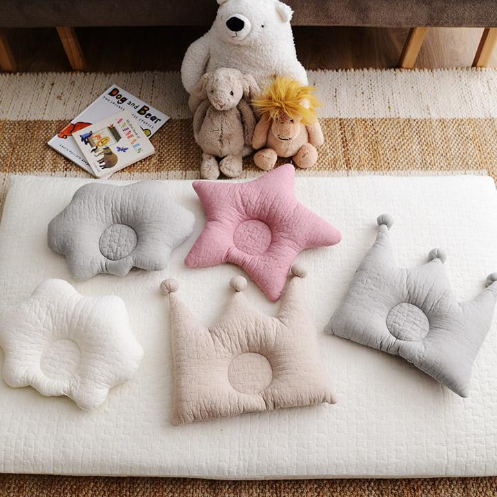 イブル ベビー 開店祝い まとめ買い特価 寝具 まくら 出産祝い ギフト くも ほし ベビーまくら mofua おうかん