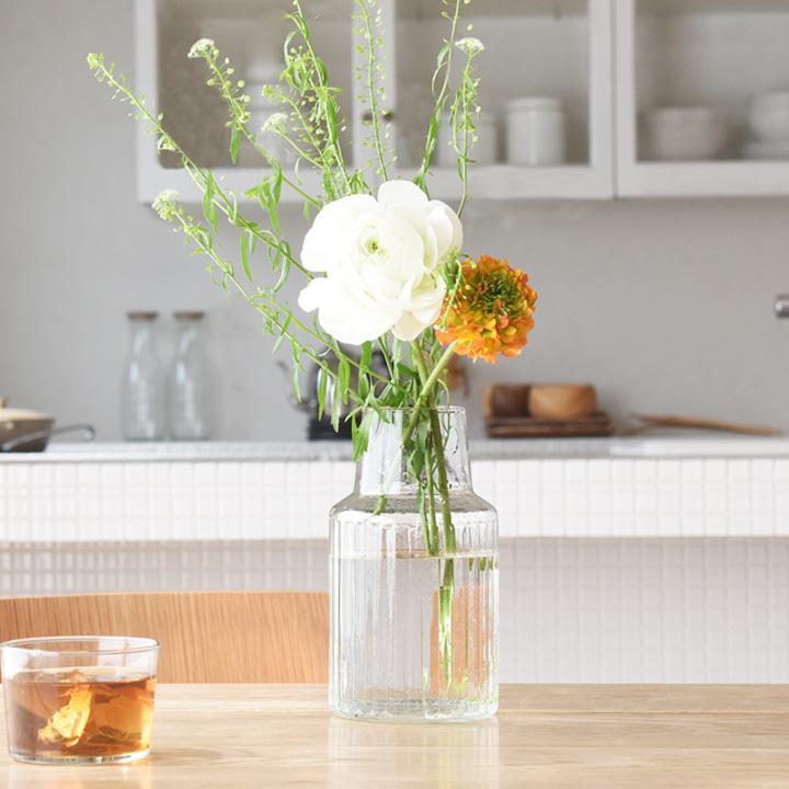 花瓶花器 ガラス フラワーベース 花束 ブーケ 最安値に挑戦 L リューズガラス NEW ARRIVAL