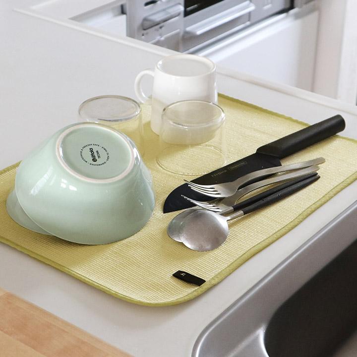 洗い物 キッチン ウィルス ミューファン 高級品 原田織物 ネコポス対応 お見舞い 無限に抗菌する水切りマット