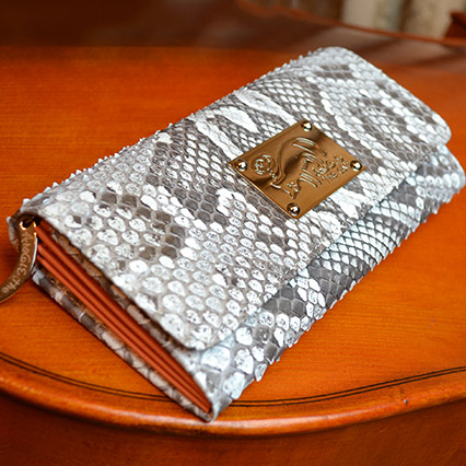 パイソン 長財布 レディース 大容量 高級 アンジーザキャット