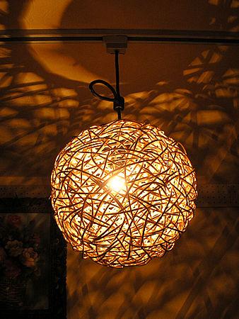 ラタン ペンダント ライト ボール ランプ ナチュラル 直径 30cm 照明 アジアン バリ タイ 雑貨 ダウンライト お洒落 レトロ アンティーク