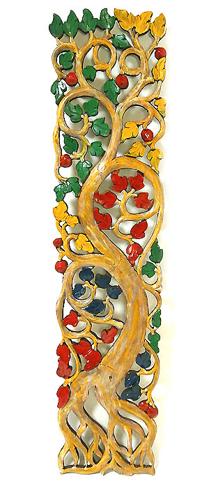 ロンボク 壁掛け 木彫りのレリーフ ベージュ系 アンティーク調 カラー [H.100cm] アジアン バリ タイ 雑貨 アジアン インテリア 送料無料