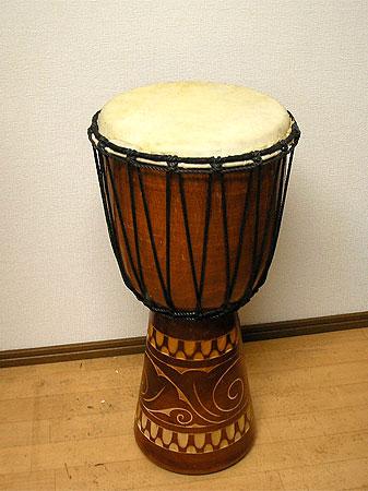 アジアの楽器ジャンベ[太鼓]H.60cm木彫り アジアン 雑貨 バリ 雑貨 タイ 雑貨 アジアン インテリア 送料無料